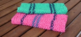 Knitted dishcloth – free pattern