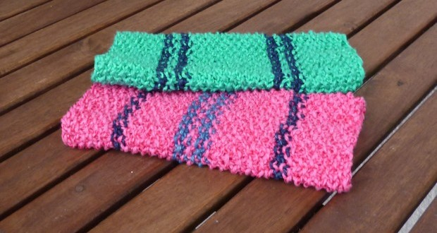 Knitted dishcloth –free pattern