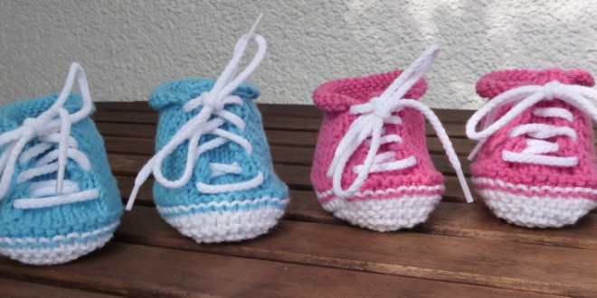 Cute Baby Booties – Free pattern for Stricklinge bootees